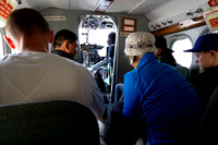 Aboard a Twin Otter on the way to Lukla