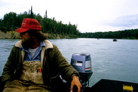 On the Kenai River about to start fishing for King Salmon